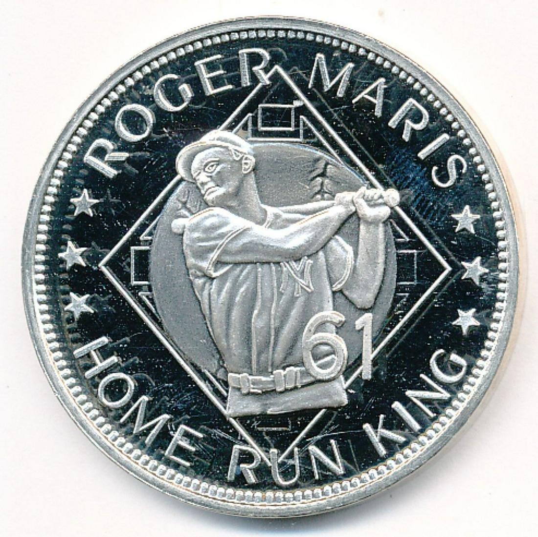 RARE 1 OZ SILVER ROGER MARIS HOME RUN KING