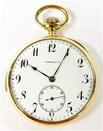 VINTAGE 1940 TIFFANY REPEATER POCKET WATCH 18K GOLD