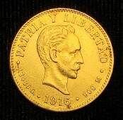 EXTREMELY RARE CUBAN GOLD COIN 1916