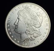 1878S MORGAN SILVER DOLLAR MS63
