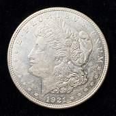 1921D MORGAN SILVER DOLLAR MS63