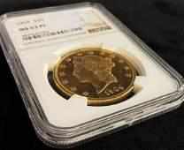 1904 20 LIBERTY HEAD GOLD RARE NGC MS63 PROOF LIKE PL