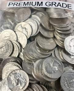 $100FV 400-COINS NON-JUNK PREMIUM GRADE 90% SILVER QTRS
