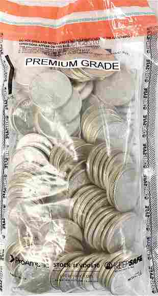 (100) PREMIUM GRADE PEACE SILVER DOLLARS