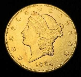 1904-S $20 GOLD LIBERTY MS62