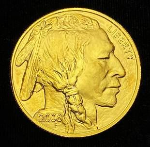 1 OZ .9999 FINE 2006 $50 GOLD BUFFALO
