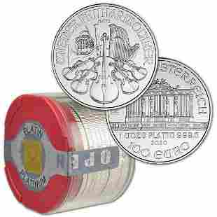 (20) 2020 AUSTRIAN PLATINUM 1 OZ PHILHARMONICS