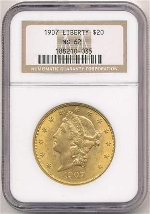 1907 NGC MS62 $20 Liberty Gold