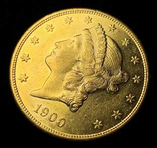 1900-S Proof Like $20 Liberty Gold MS63 PL