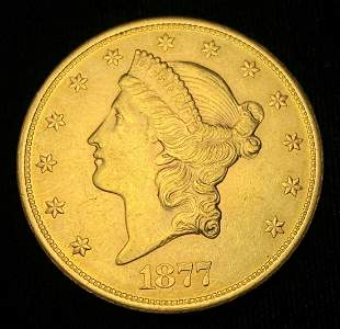 1877-S $20 GOLD LIBERTY MS62