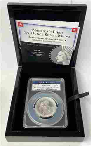 2019-P High Relief Matte Proof Silver Medal PCGS 69