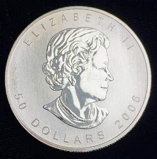 2006 1 Oz. Canadian Maple Leaf Palladium