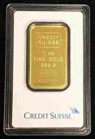 1 Oz. Credit Suisse Gold Bar