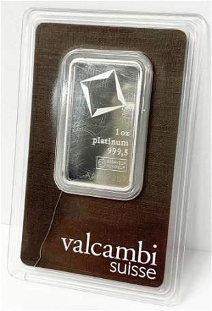 Valcambi Suisse 1 Oz. Platinum Bar
