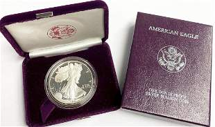 1986 Proof 69 Silver Eagle With Box US Mint
