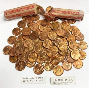Super Cool MS64+ Red .1C Collection 1944-1958 96 Coins