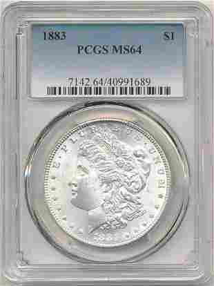 1883 Morgan Silver Dollar PCGS MS64