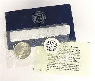 1923 Peace Silver Dollar Blue GSA Soft Pack