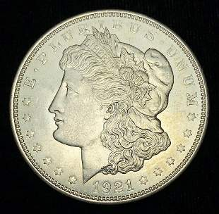 1921-D Morgan Silver Dollar MS64