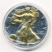 Gold Foil Genuine 2019 American Silver Eagles