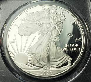 V-75 Privy PCGS Proof 70 2020 Silver Eagle