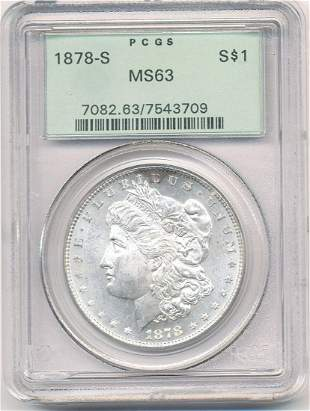 Old pcgs 1878-S Morgan Silver Dollar MS63