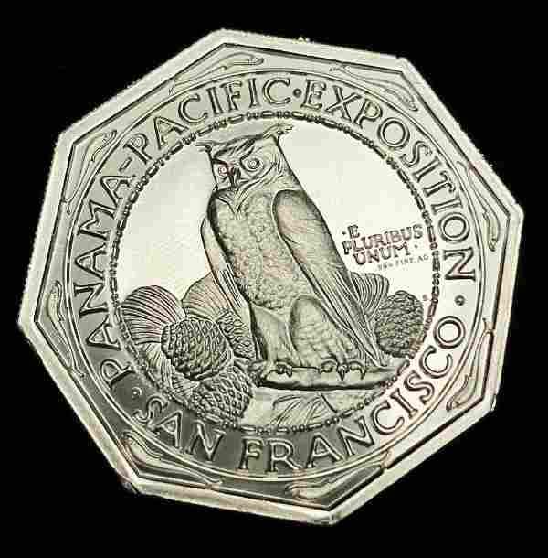 2 Oz. Intaglio Mint Panama Pacific Expo Commemorative