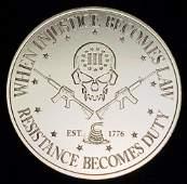 Intaglio Mint 1 Oz. Silver Round Deuce Four Skull
