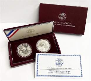 1999 Dolly Madison Silver Dollars Commemorative Set OGP