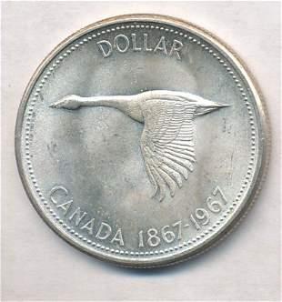 1967 Canada Flying Goose Silver Dollar