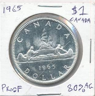 1965 Canada Proof Like Silver Dollar