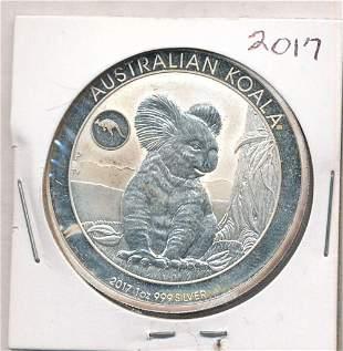 2017 Australia Koala Kangaroo Privy 1 oz Silver Dollar