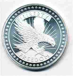 SD Bullion Liberty Freedom 1 oz .999 Fine Silver Round