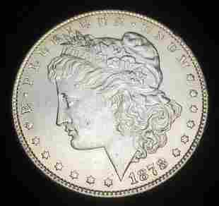1878 ATF Almost Mint+ Morgan Silver Dollar