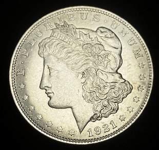 1921 Proof Like Morgan Silver Dollar MS63