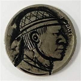 Hand Carved Indian Head Hobo Buffalo Nickel