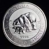 2015 $8 Canada 1.5 oz .9999 Silver Polar Bear