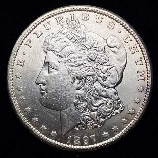1897-S Morgan Silver Dollar Mint Condition