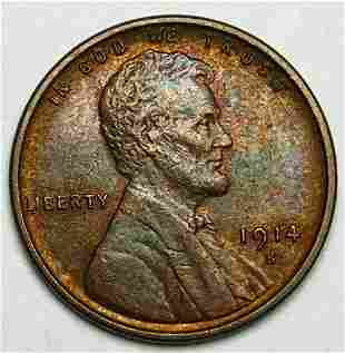Fabulous Color 1914-S Lincoln 1 Cent Almost Mint