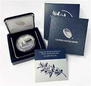 End Of World War 2 Silver Medal 75th Anniversary