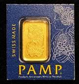 1 Gram PAMP Gold Bar