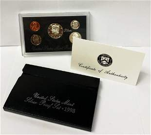 1998 United States Mint Silver Proof Set OGP