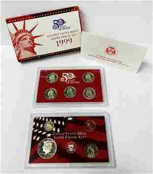 1999 United States Mint Silver Proof Set OGP