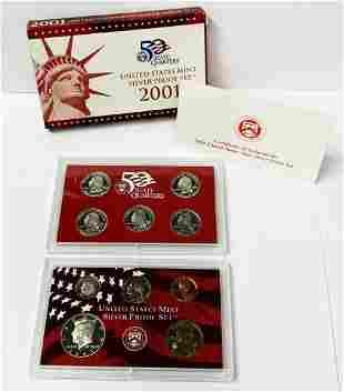 2001 United States Mint Silver Proof Set OGP
