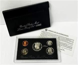 1993 United States Mint Silver Proof Set OGP
