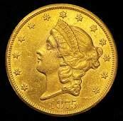 CC Gold 1875 $20 Carson City AU58 Proof Like