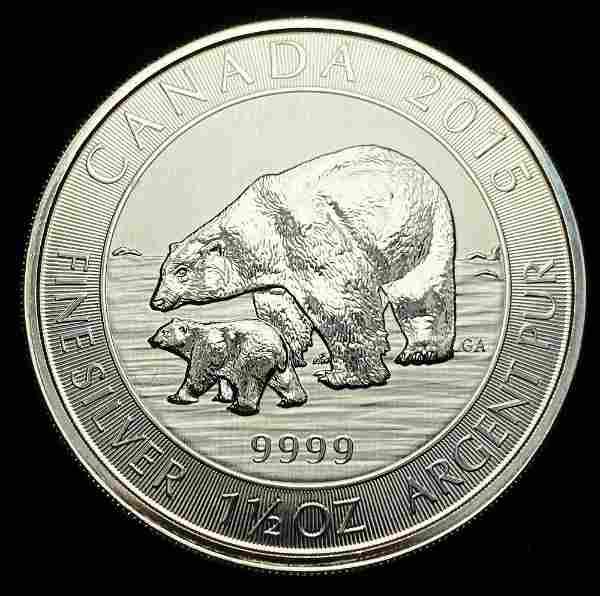 2015 Canada $8 Silver 1.5 oz. Polar Bears