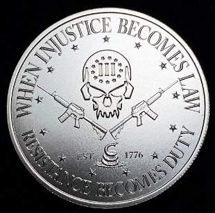 Intaglio Mint 1 oz. Silver Deuce Four Skull
