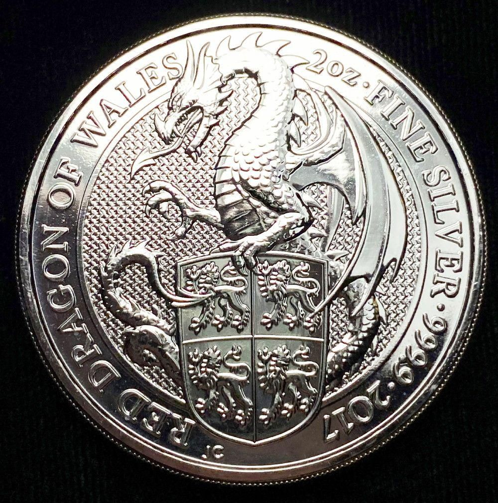 2017 Great Britain 2oz Silver Queen's Beasts The Dragon