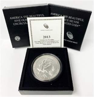 ATB 5 oz. Silver Collector Coin 2013 South Dakota OGP